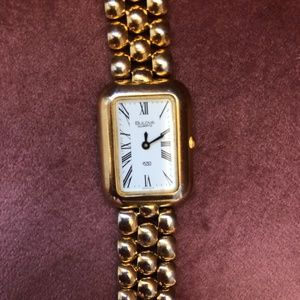 Vintage Woman's Bulova Mechanical Watch Gold Chain